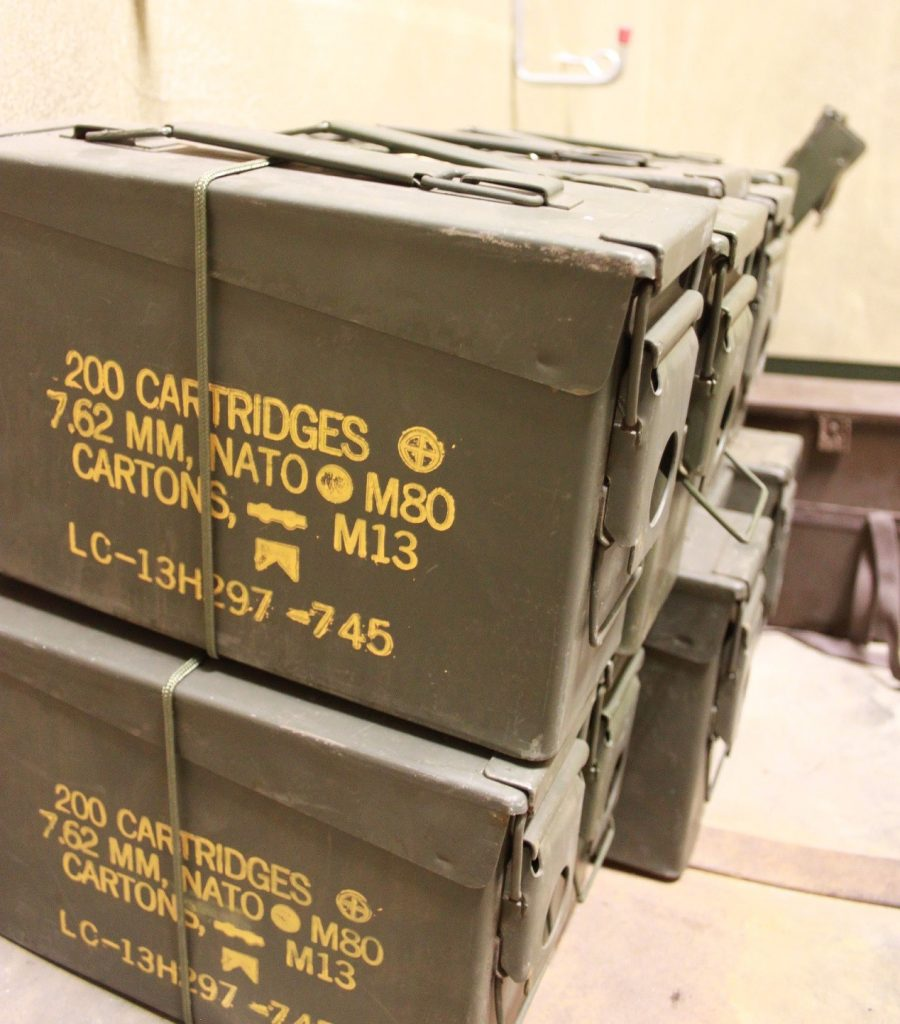 Ammo boxes from US Army